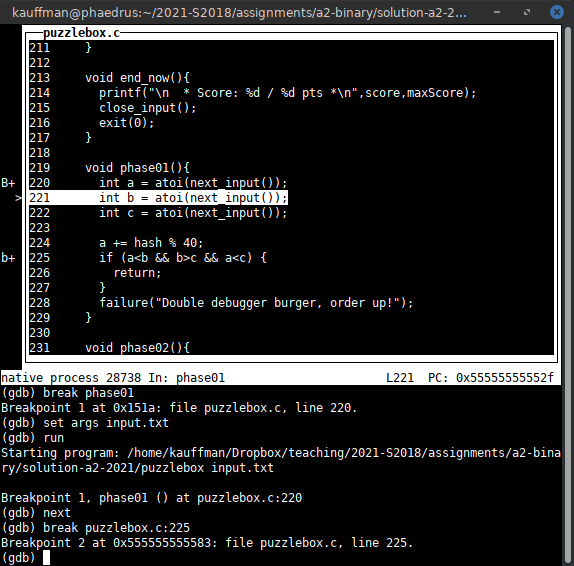 Csci 2021 Quick Guide To Gdb The Gnu Debugger